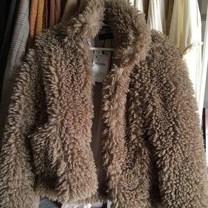 Super soft fuzzy Zara coat!